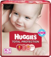 Huggies Total Protection Extra Large Size Diapers