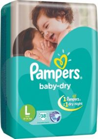 Baby Dry Large Size Diapers