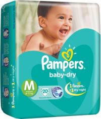 Baby dry Diapers Medium Size