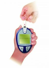 JSB AC200 Glucometer with 100 strips and 100 lancets