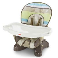 SpaceSaver High Chair - Green Stripes
