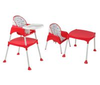 3 In 1 Baby high chair (Red)