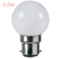 Lumeno LED 0.5 Watt Ball - White