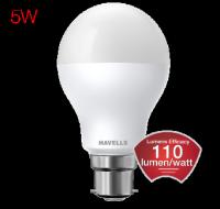 LED  Lumeno 5 Watt  B22 Cool Day Light  Ball Lamp