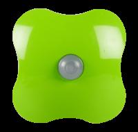 Plug-In Square Green 1W