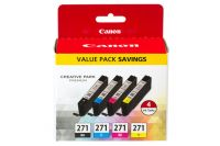CLI-271 Black, Cyan, Magenta, Yellow 4 Ink Pack