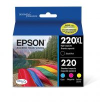 Epson 220XL Black & 220 Color C/M/Y/K 4-Pack