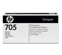 HP 705 Light Cyan Printhead and Printhead Cleaner