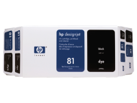 HP 81 Value Pack 680-ml Black Dye Ink Cartridge and Printhead