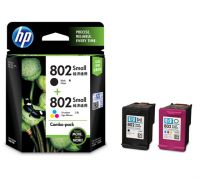 HP 802 Combo-pack Black-Tri-color Ink Cartridges