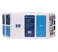 HP 80 Value Pack 350-ml Cyan Ink Cartridge and Printhead