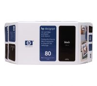 HP 80 Value Pack 350-ml Black Ink Cartridge and Printhead