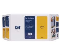 HP 80 Value Pack 350-ml Yellow Ink Cartridge and Printhead