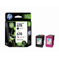HP 678 2-pack Black-Tri-color Original Ink Advantage Cartridges