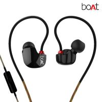 Uno In-Ear Earphones with Mic (Black)