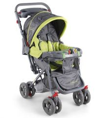 Elite Stroller (Green & Grey)