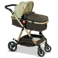 Hiker Luxury Stroller Cum Pram - Cozy Brown