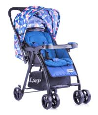Joy Baby Stroller (Printed Blue)