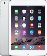 iPad Mini 3 with Retina Display Wi‑Fi and Cellular, 128 GB Silver