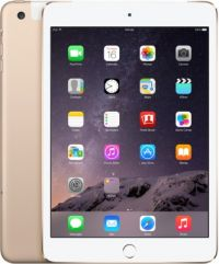 iPad Mini 3 with Retina Display Wi‑Fi and Cellular, 16 GB Gold