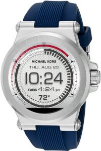Michael Kors Access Dylan Silicone Silver-Tone Smartwatch