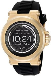 Michael Kors Access Dylan Silicone Gold-Tone Smartwatch