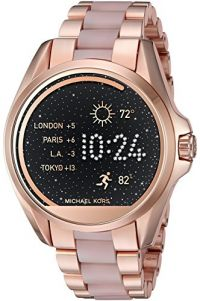 Michael Kors Access Bradshaw Rose Gold-Tone And Acetate Smartwatch